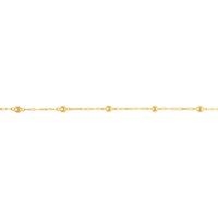 Pulseira Infantil de Bolinhas em Ouro 18K - MI14005 - MICHELETTI JOIAS