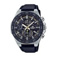Relógio Casio Edifice Cronógrafo Couro - EFR-564BL-1AVUDF - MICHELETTI JOIAS