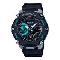 Relógio G-Shock AnaDigi Série GA-2200 Preto com Turquesa - G... - MICHELETTI JOIAS