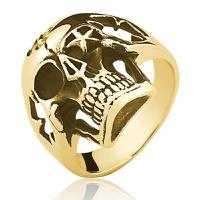 Anel de Ouro 18/750 Masculino Caveira AN11 - NATALIA JOIAS