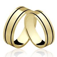 Alianças de Ouro 18k/750 AL123 - NATALIA JOIAS