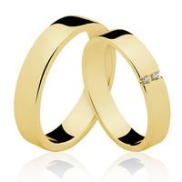 Alianças de Ouro 18k/750 com Diamantes AL140 - NATALIA JOIAS