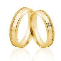 Alianças de Ouro 18k/750 com Diamante AL30 - NATALIA JOIAS