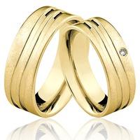 Alianças de Ouro 18k/750 com Diamante AL49 - NATALIA JOIAS