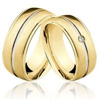 Alianças de Ouro 18k/750 com Diamante AL46 - NATALIA JOIAS