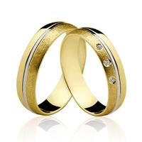 Alianças de Ouro 18k/750 com Diamantes ALP05 - NATALIA JOIAS