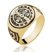 Anel de Ouro 18/750 Masculino Sao Bento AN19 - NATALIA JOIAS