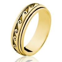Anel de Ouro 18/750 Giratorio AN67 - NATALIA JOIAS
