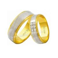Alianças de Ouro 18k/750 com Diamantes AE145 - NATALIA JOIAS