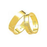 Alianças de Ouro com Diamantes 18k/750 AE125 - NATALIA JOIAS