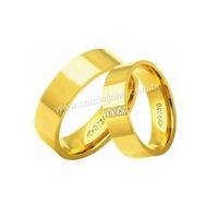 Alianças de Ouro Anatomica com Diamantes 18k/750 A... - NATALIA JOIAS