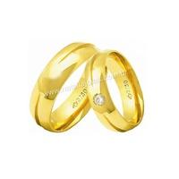 Alianças de Ouro 18k/750 Anatomica com Diamante AE... - NATALIA JOIAS