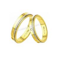 Alianças de Ouro com Diamante 18k/750 AE15 - NATALIA JOIAS