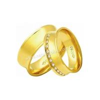 Alianças de Ouro 18k/750 Anatomica com Diamantes A... - NATALIA JOIAS