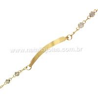 Pulseira de Ouro 18k/750 Infantil PL21 - NATALIA JOIAS