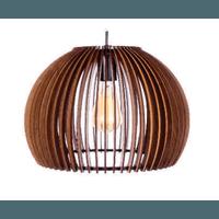 Pendente de Madeira Wood Ball 34,5cm 1E27 3D - Jabu Elétrica, Hidráulica e Iluminação