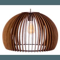 Pendente de Madeira Wood Ball 45cm 1E27 3D - Jabu Elétrica, Hidráulica e Iluminação