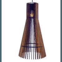 Pendente de Madeira Wood Versus G 1E27 3D - Jabu Elétrica, Hidráulica e Iluminação