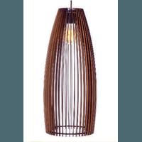 Pendente de Madeira Wood Barrel G 1E27 3D - Jabu Elétrica, Hidráulica e Iluminação