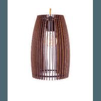 Pendente De Madeira Wood Barrel P 1e27 3D - Jabu Elétrica, Hidráulica e Iluminação