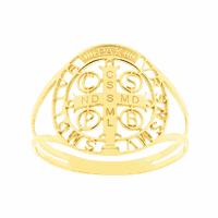 Anel Ouro 18K Símbolo de São Bento Vazado - MI20353 - MICHELETTI JOIAS