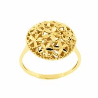 Anel Ouro 18K Círculo Flores Diamantado - MI17178 - MICHELETTI JOIAS