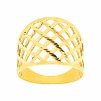 Anel de Ouro 18K Feminino Vazado Largo - MI23078 - MICHELETTI JOIAS