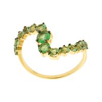 Anel Pedras Verdes Topázio Ouro Amarelo 18K - MI25879 - MICHELETTI JOIAS