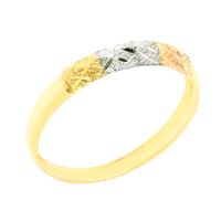 Anel Aparador Tricolor em Ouro 18K - MI4503 - MICHELETTI JOIAS