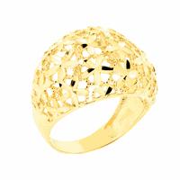 Anel Largo Detalhe Flores em Ouro 18K - MI19033 - MICHELETTI JOIAS