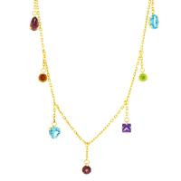 Gargantilha de Pedras Naturais Coloridas em Ouro 18K - MI199... - MICHELETTI JOIAS