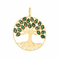 Pingente de Ouro 18K Árvore da Vida com 38 Esmeraldas - MI25... - MICHELETTI JOIAS
