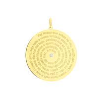 Pingente de Ouro 18K Oração Pai Nosso com Brilhante - MI1331... - MICHELETTI JOIAS