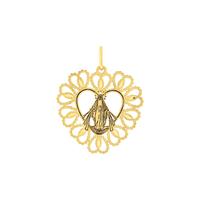 Pingente de Ouro 18K Coração com Nossa Senhora - MI25859 - MICHELETTI JOIAS