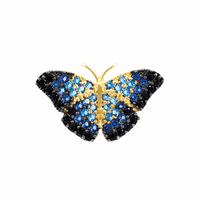 Pingente Borboleta Azul Zircônias Coloridas Ouro 18K - MI166... - MICHELETTI JOIAS