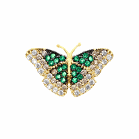 Pingente Borboleta com Zircônia Verde em Ouro 18K - MI16635 - MICHELETTI JOIAS