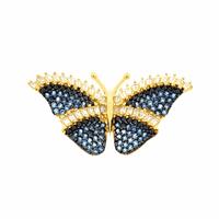 Pingente de Borboleta Grande Zircônia Azul em Ouro 18K - MI2... - MICHELETTI JOIAS