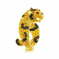 Pingente de Ouro 18K Onça com Zirconias - MI19330 - MICHELETTI JOIAS