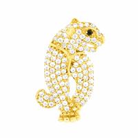 Pingente Pantera com Zirconias Brancas Ouro 18K - MI19131 - MICHELETTI JOIAS