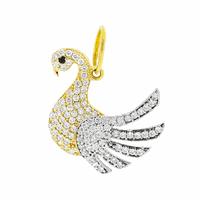 Pingente Cisne com Zirconias Ouro 18K - MI18217 - MICHELETTI JOIAS