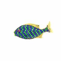 Pingente de Ouro 18K Peixe com Zirconias Coloridas - MI19132 - MICHELETTI JOIAS
