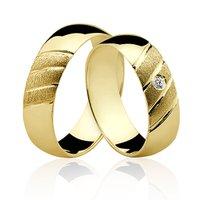 Alianças de Ouro 18k/750 com Diamante AL21/RP1