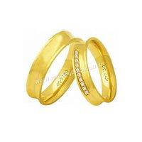 Alianças de Ouro 18k/750 Anatomica com Diamantes A...