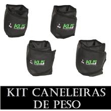 Kit Tornozeleira Caneleira De Peso 2kg 3kg 4kg 5kg - KLMASTERFITNESS
