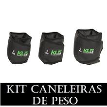 Kit Caneleira Tornozeleira De Peso 2kg 3kg 5kg - KLMASTERFITNESS