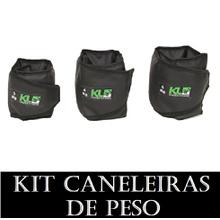 Kit Caneleira Tornozeleira de Peso 3,4 E 5 KG - KLMASTERFITNESS