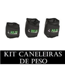 Kit Caneleira Tornozeleira de Peso 1,2 e 3 kg - KLMASTERFITNESS