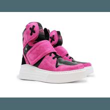Sneaker Para Academia e Dançar Rosa Pink com Preto - KLMASTERFITNESS