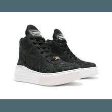 Tênis Sneaker Crossfit Jeans Destroyed Preto - KLMASTERFITNESS