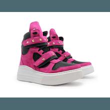 Tênis Sneaker Crossfit Preto Com Rosa Pink - KLMASTERFITNESS